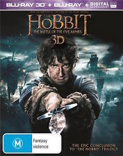 THE HOBBIT 3: Battle of the Five Armies : Blu-Ray 3D : NEW