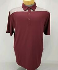 Columbia Golf Mens Size Large Omni-Wick Utility Golf Polo Button Down New W Tags