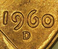 1960 D/D Lincoln Cent Small Date Over Large~DDO~RPM~Red Super Gem BU~Combo Ship~