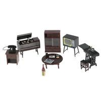 MagiDeal 1/12 Dollhouse Miniature Retro Furniture Set Living Room Decoration