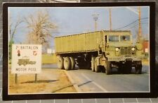 1960's 2nd Battalion US ARMY Military Motor Pool Truck Fort Dix, NJ Postcard
