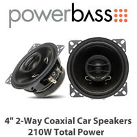 "Powerbass S-4002 - 4"" 2-Way Coaxial Car Speakers 210W Total Power BNIB"