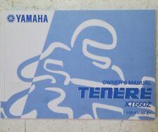 YAMAHA XT660 TENERE OWNER'S MANUAL 2010   11D-F8199-E1  (JR) HB23
