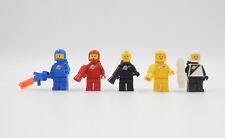 Lego Figuren Space Classic Astronauten schwarz rot gelb blau Vintage