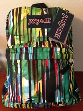JANSPORT Superbreak Backpack Mammoth Blue Multi Maven Stripe Campus School Bag