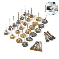 36Pcs Brass Steel Wire Brush Polishing Wheels Full Kit Pen Cup Dremel tool Exoti