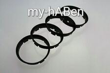 4 Zentrierringe 74,1 - 72,6  BMW Modelle 1er 3er 5er E46 E90 E60 Alufelgen Ringe