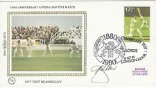 More details for dennis lillee signed benham 1980 100th anniversary test lord's first day cover