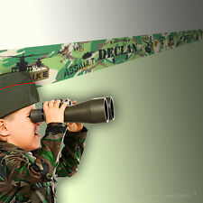 MILITARY SQUAD LEADER personalised BEDROOM WALL BORDER army wallpaper strips