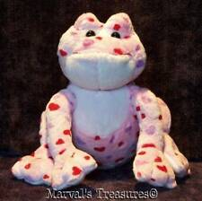 Love Frog Webkinz HM144 GANZ Pink Red Purple Hearts Retired No code EUC