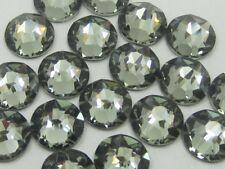 30ss BLACK DIAMOND HOT FIX swarovski rhinestones 18pcs