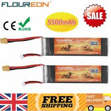 Floureon 4s 14.8v 35c 5500mah Xt60 Lipo Battery for RC Car Airplane Boat Buggy