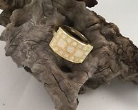Vintage Jewellery Yellow Gold Ring with Opals Antique Art Deco Jewelry 8 or Q