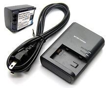 Battery + Charger for BP-808 Canon FS200 FS300 FS400 HF10 HF11 HF100 HG20 HG21