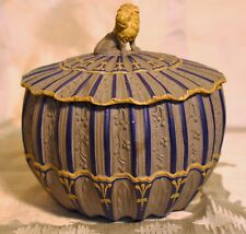 RARE Samuel Hollins Enameled Dry Body Stoneware Covered Sugar Bowl c. 1795