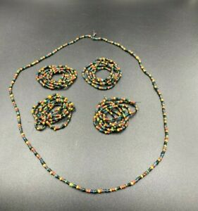 Old Ancient Antique Glass Beads From Ancient Pyu culture period  from Burma