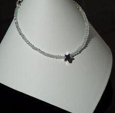 Handmade Topaz Gemstone & 925 Sterling Silver Star Bracelet