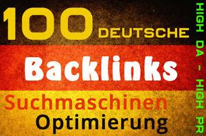 100 Deutsche Backlinks von .de Domains, SEO, Linkaufbau