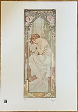 Limited Edition Alphonse Mucha Sleep Print With Certificate