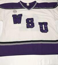 Men's AK Athletic Knit Weber State University Hockey Jersey 2XL White Purple #11