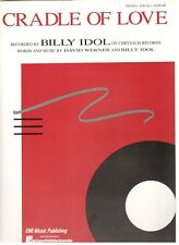 """BILLY IDOL """"CRADLE OF LOVE"""" SHEET MUSIC-PIANO/VOCAL/GUITAR-VERY RARE-NEW ON SALE"""