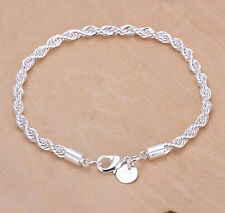 Wholesale Price 925Sterling Silver Wrest Double Lines Chain Bracelet 4MM