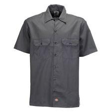 Dickies Herren Hemd Shorts Sleeve Work weiß s grau - 35904