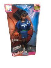 1998 NBA Barbie Minnesota Timberwolves African American Barbie #1 Blue Uniform