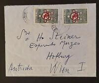1961 Congo to Vienna Austria to Esperanto Director CCTA Stamps Airmail Cover