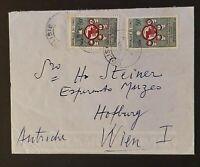 1961 Congo to Vienna Austria to Esperanto Director CCTA Stamps Airmail Cover