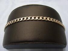 Jewelry & Watches Herren 925 Sterlingsilber Flache Panzer Messgerät 180-7mm Gravierbar Id 22.9cm