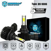 2X HB4 9006 LED Headlight Lamps FOG Lights Bulbs Kits 2200W 330000LM 6000K White