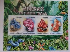 Sao Tome & Principe 2015 / Tropical Forest Minerals / 4v minisheet MNH