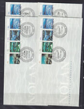 AAT FDCs: SET OF 4 BASE CANCELS NOLAN