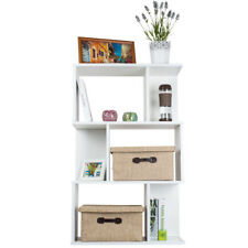3 Tiers Home Display Shelf Storage Bookshelf Bookcase Stand Rack Unit Cube White