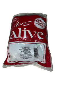 3 Hanes Alive Full Support Control Top Pantyhose Reinforced Size D Quicksilver