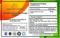 ORGANIC Apple Cider Vinegar Powder Pure & high quality NO FILLERS
