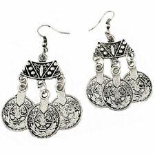 Tibetan Coin Earrings Boho Fashion Jewellery Festival Summer A191