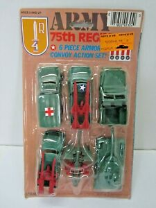 VINTAGE ARMY 75TH REGIMENT WWII ARMY MEN VEHICLES SOLDIER TOYS HONG KONG LARAMI