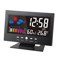 Nuovo termometro igrometro digitale stazione meteo sveglia calendario a colori