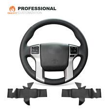 Black Leather Steering Wheel Cover for Toyota Land Cruiser Prado Tundra 4Runner