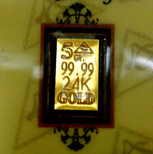 ACB 24k Gold 99.99 fine 5Grain bullion Quantity of 5 bars with COA