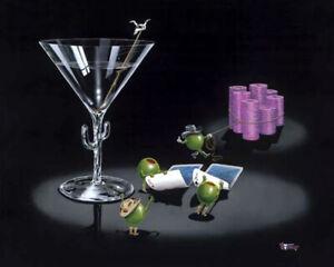 """Michael Godard """"POCKET ROCKETS"""" Gambling-Texas Hold Em-Poker-Limited Edition-Art"""