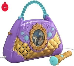 Disney prinsses Aladdin Sing Along to built-in tunes Boombox with Mic NEW