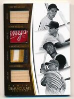 2015 Immaculate WILLIAMS * MUSIAL * CLEMENTE * GEHRIG Game Used TAG Patch * #1/1