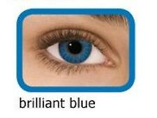 lentilles de couleur bleu brillant 1 an - contact lenses blue