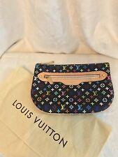 Louis Vuitton LIMITED EDITION Black Multicolor GM Murakami Pouchette Clutch