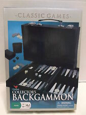 Backgammon Cardinal Collector's Classic Strategy Game Leatherette Case NIB 2009!