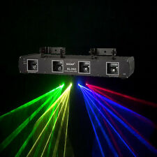 Pro Stage Lighting 4 Lens GYBR Green Yellow Red Blue Laser Light DJ disco show