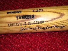 JOHNNY MIZE Autograph  YANKEE TEAM Game Used Bat BIG CAT CARDINALS GIANTS  HOF